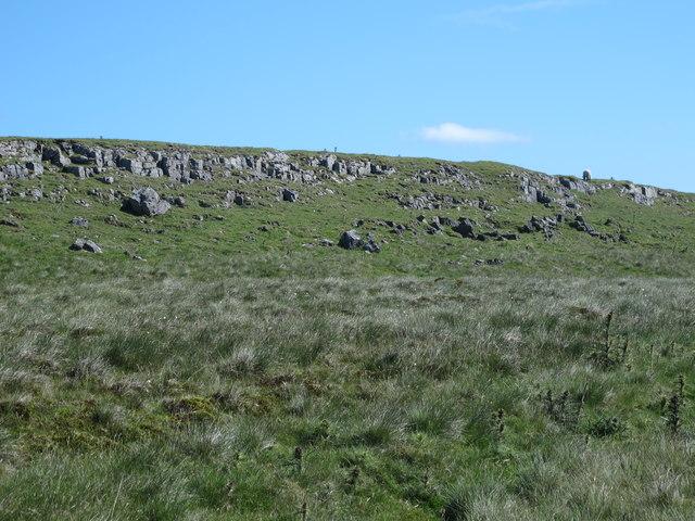 Rock outcrop below The Knott