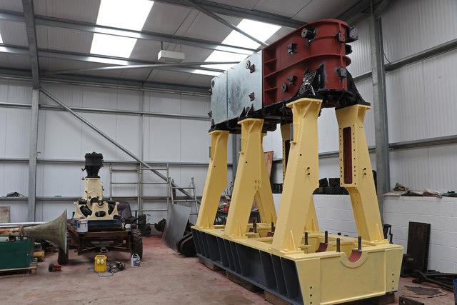 Steam engines being restored