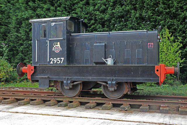 Ruston Hornsby Locomotive near Lower Leigh