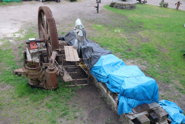 Wortley Top Forge - engine being re-erected