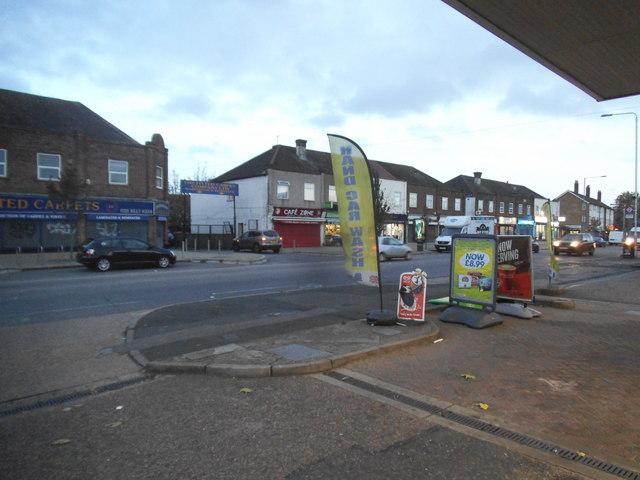 Petrol station on Whalebone Lane North, Chadwell Heath
