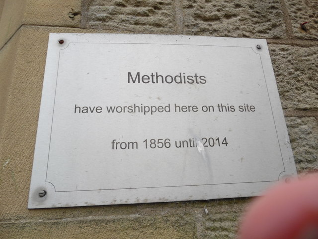 Plaque on former Methodist Church, Hawes