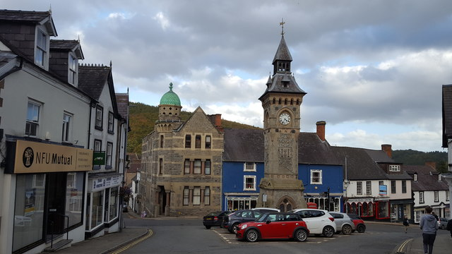 Clock Tower and Town Centre, Knighton