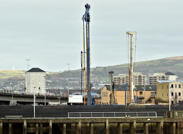 The City Quays car park site, Belfast - October 2017(2)