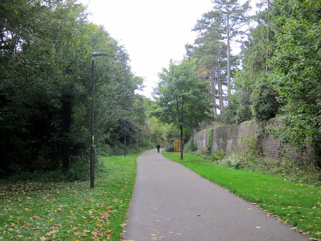 Cheltenham Spa Footpath Cycle Way Along Old Railway Trackbed