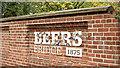 J3673 : Beers Bridge name sign, Belfast (October 2017) by Albert Bridge