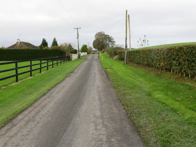 Road (L5312) from Mantlehill heading towards N74