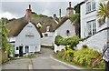 SW7526 : Pretty thatched cottages at Helford village, Cornwall by Derek Voller