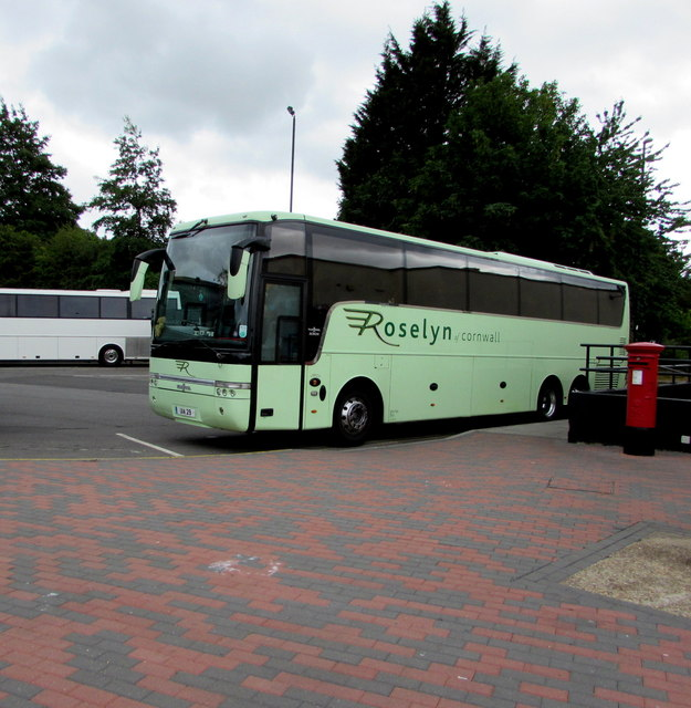 Roselyn coach in Gordano Services, Portbury, North Somerset