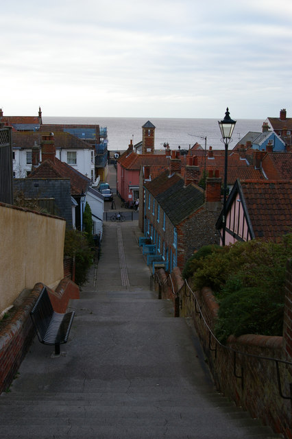 Town Steps, looking down from The Terrace, Aldeburgh