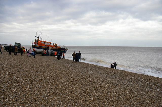 Lifeboat launch, Aldeburgh beach