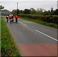 SO3617 : Sunday morning cyclists in rural north Monmouthshire by Jaggery