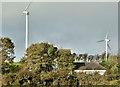 J4165 : Two wind turbines, Tullyhubbert, Ballygowan (October 2017) by Albert Bridge