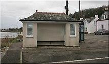 NX8354 : Seaside shelter, Kippford by Richard Sutcliffe