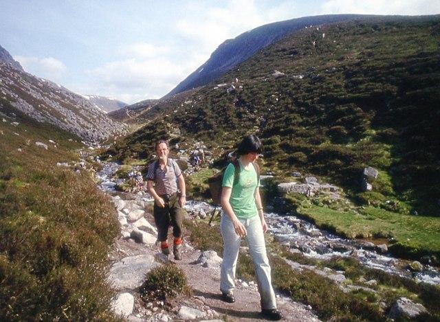 Walking the Lairig Ghru path