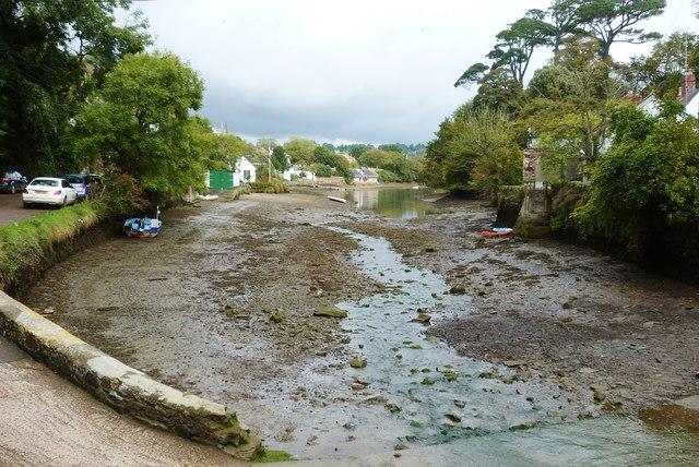Helford Creek from the footbridge, Helford village