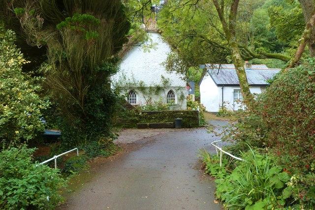 Gothic style cottage, Helford village
