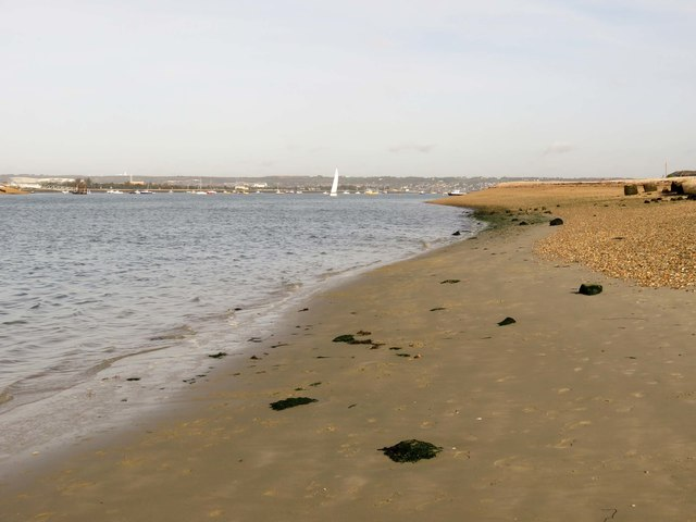 The beach by Langstone Channel