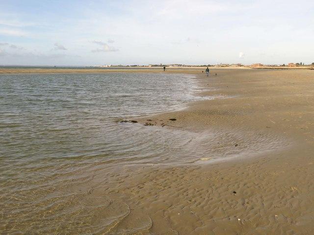 The beach on Gunner Point