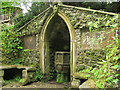 SJ2141 : Plas Newydd - the grotto by Stephen Craven