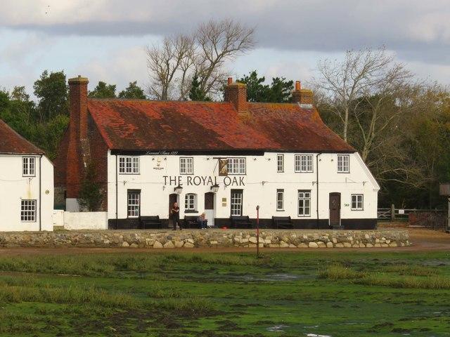 The Royal Oak by Langstone Harbour