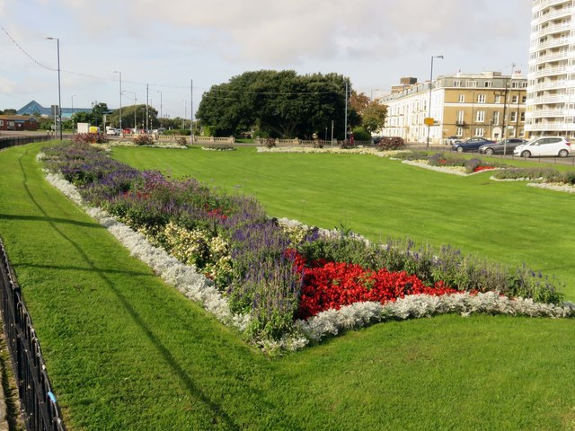 Flowerbeds on South Parade