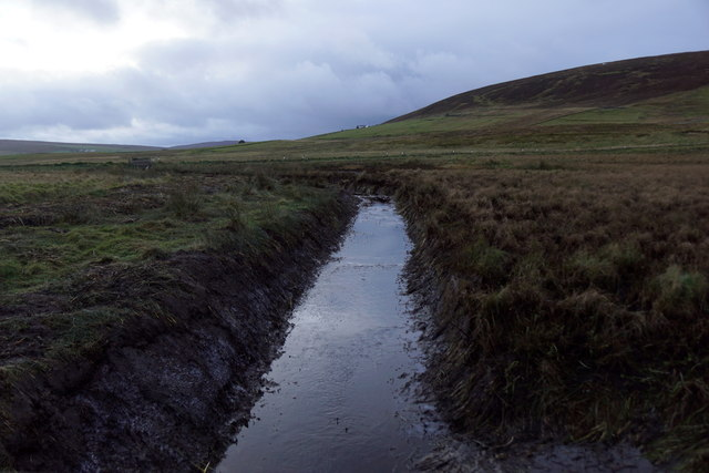 Newly-dug ditch at Northdale