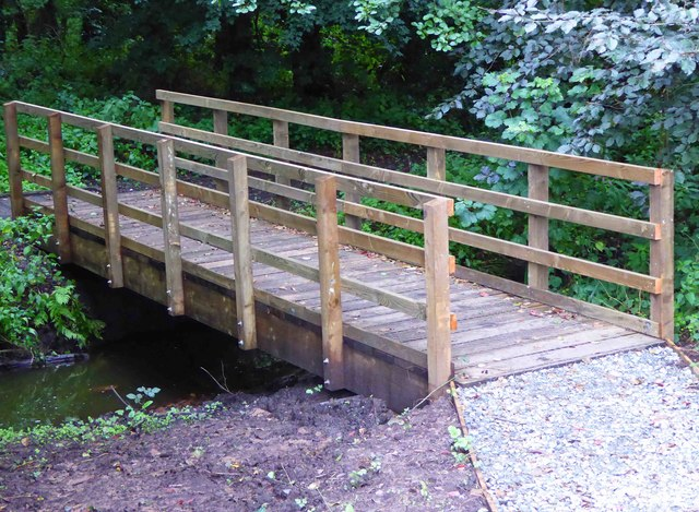 Footbridge into Spennells Valley Nature Reserve, Kidderminster