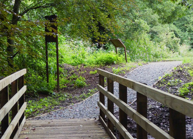 Footpath from Spennells Valley Nature Reserve to car park, Kidderminster