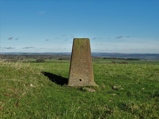 Triangulation pillar on Aleck Low looking east