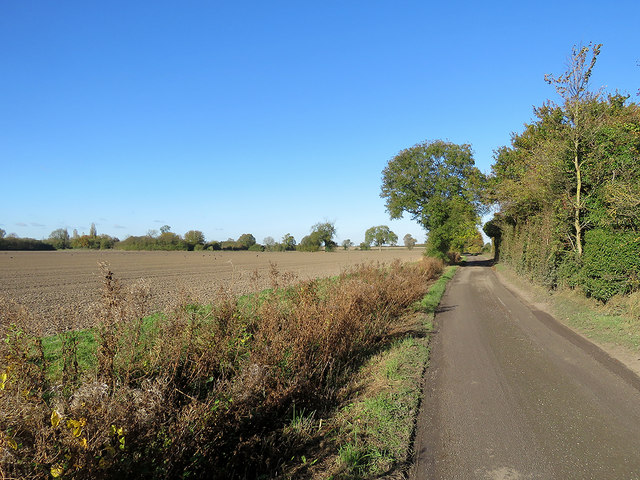 Ashwell End: a cloudless sky in late October