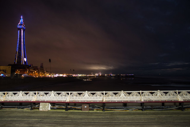 A view of Blackpool from the North Pier