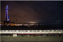 SD3036 : A view of Blackpool from the North Pier by Oliver Mills