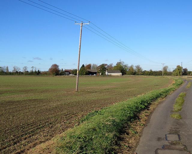 Towards Place Farm and Glebe Farm