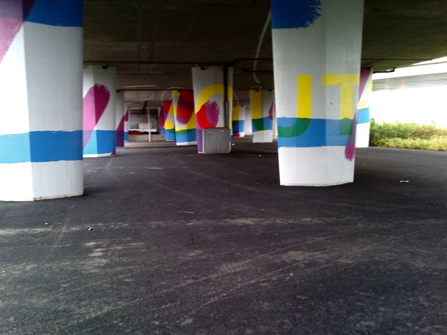 Under bridge graffiti