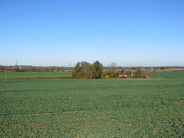 Caldecote: Meadow Cottages and a view into Bedfordshire