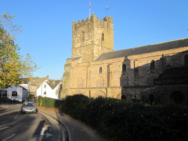 Chepstow Church Street and the Priory Church of Stary