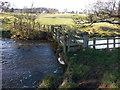NZ0559 : Footbridge over Stocksfield Burn near Hindley by Clive Nicholson