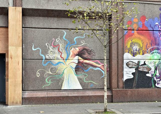 Street art, Donegall Street, Belfast - October 2017(2)