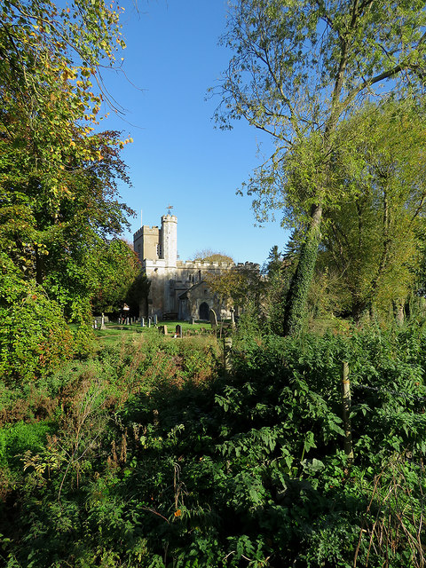 Newnham: St Vincent through the trees