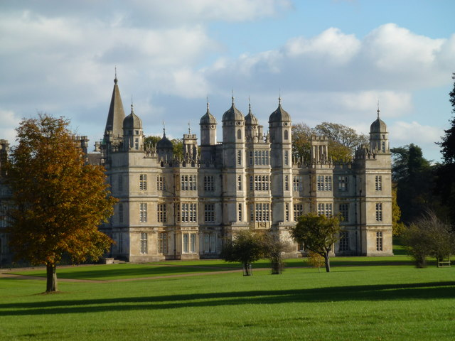Burghley House on a sunny Autumnal day