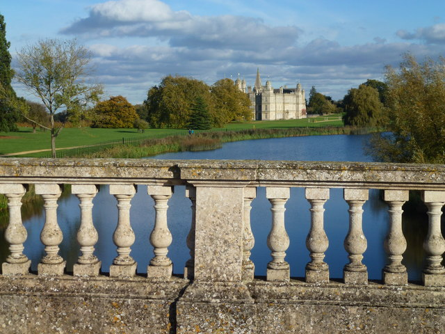 On The Lion Bridge in Burghley Park near Stamford, Lincolnshire