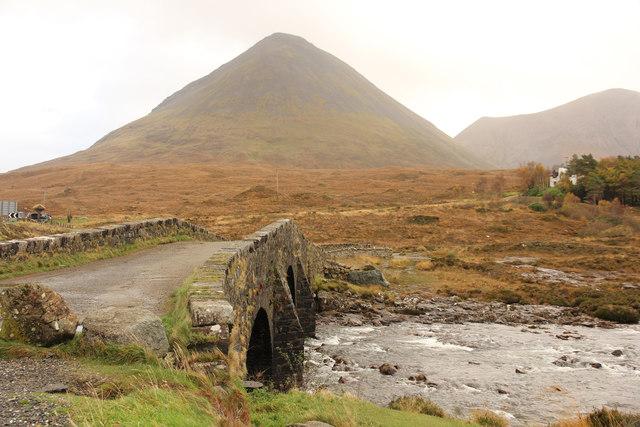Old bridge over the River Sligachan