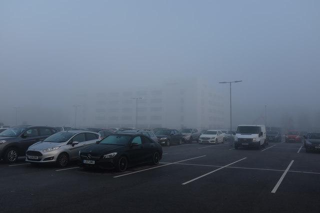 Fog in the car park