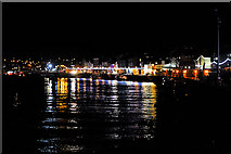 NZ8911 : Whitby Harbour at Night by David Dixon
