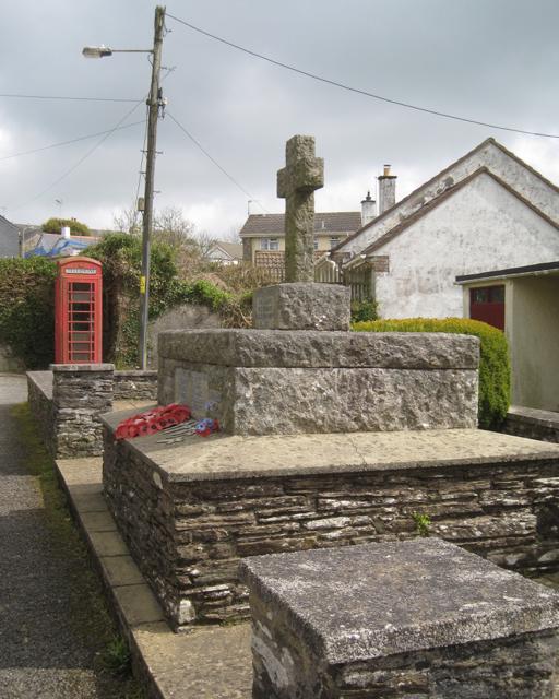 War Memorial, Main Street, Blackawton