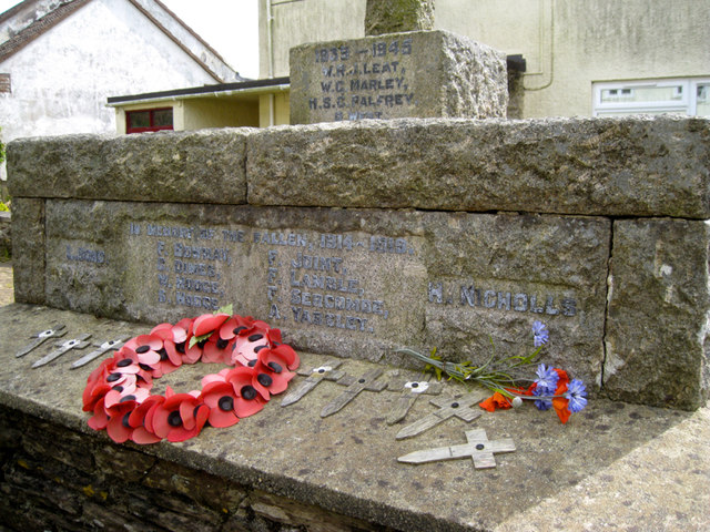 Inscriptions, Blackawton War Memorial, Main Street
