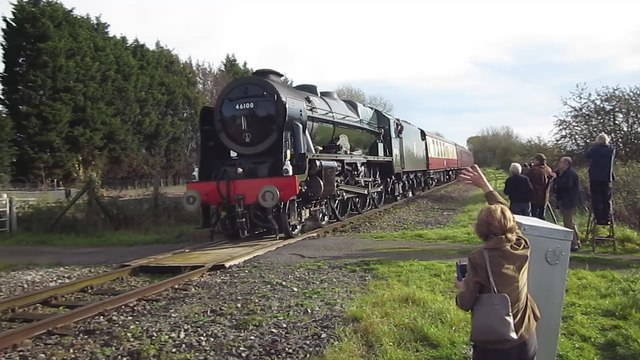 46100 Royal Scot at Norton House Farm Level Crossing