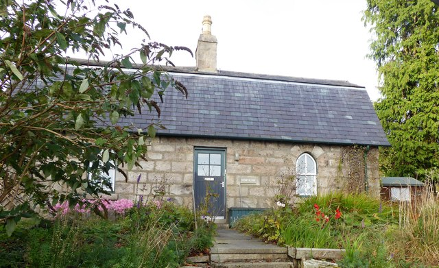 Front terrace garden of a country cottage