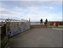 NZ8911 : Storm Gate and Memorial Bridge, West Pier by David Dixon